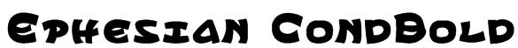 Ephesian CondBold Font