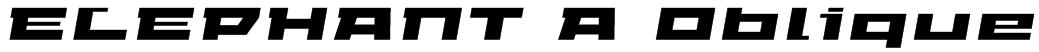 ELEPHANT A Oblique Font