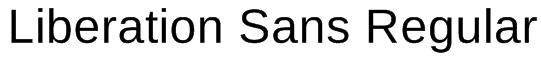 Liberation Sans Regular Font