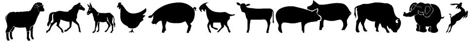 Farm & Wild Animals Font
