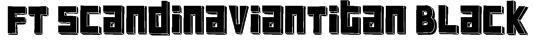 FT ScandinavianTitan Black Font