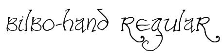 Bilbo-hand Regular Font