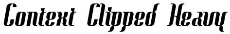 Context Clipped Heavy Font