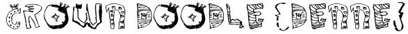 Crown Doodle {denne} Font