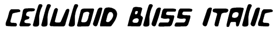 Celluloid Bliss Italic Font