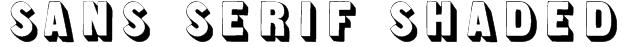 Sans Serif Shaded Font