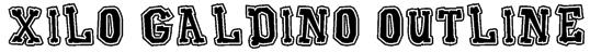 Xilo Galdino Outline Font
