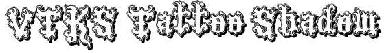 VTKS Tattoo Shadow Font