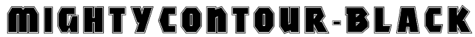 MightyContour-Black Font