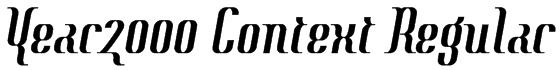 Year2000 Context Regular Font