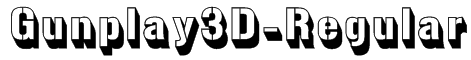 Gunplay3D-Regular Font