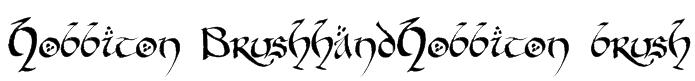 Hobbiton BrushhandHobbiton brush Font