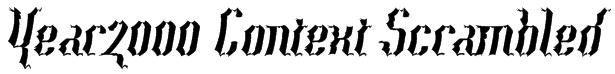 Year2000 Context Scrambled Font