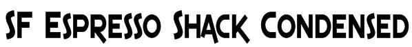 SF Espresso Shack Condensed Font