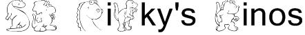 KR Nicky's Dinos Font