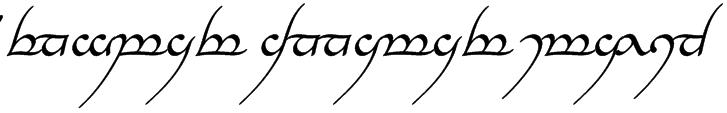 Tengwar Annatar Italic Font