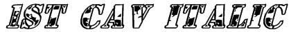 1st Cav Italic Font
