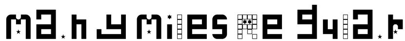 Many Miles Regular Font