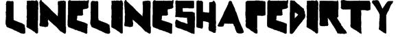 LineLineShapeDirty Font