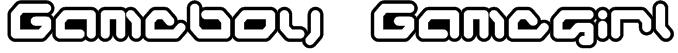 Gameboy Gamegirl Font