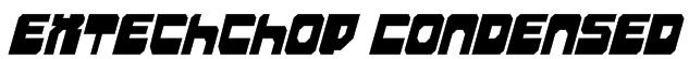 Extechchop Condensed Font