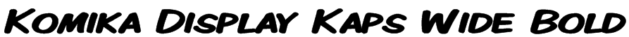 Komika Display Kaps Wide Bold Font