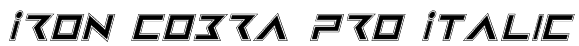 Iron Cobra Pro Italic Font