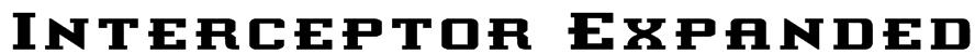 Interceptor Expanded Font