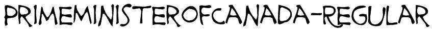 PrimeMinisterofCanada-Regular Font