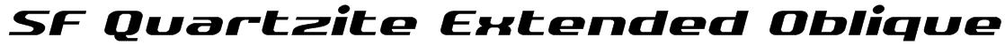 SF Quartzite Extended Oblique Font