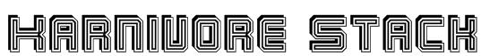 Karnivore Stack Font