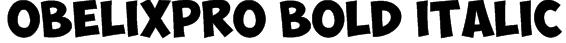 ObelixPro Bold Italic Font