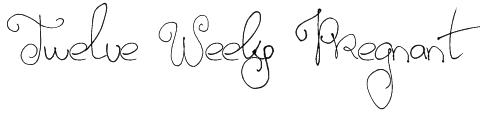 Twelve Weeks Pregnant Font
