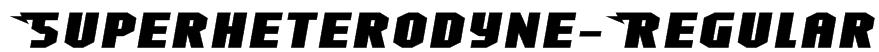 Superheterodyne-Regular Font