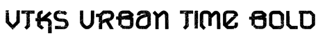 VTKS URBAN TIME bold Font