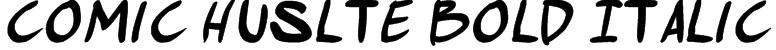 comic huslte Bold Italic Font