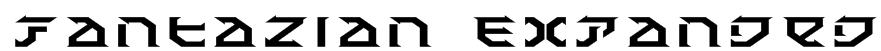 Fantazian Expanded Font