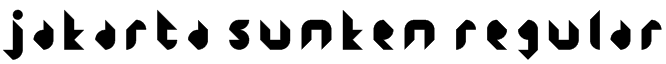 Jakarta Sunken Regular Font