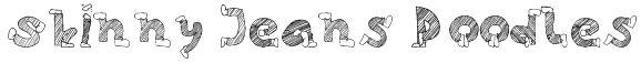 Skinny Jeans Doodles Font