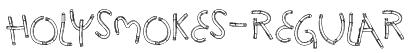HolySmokes-Regular Font