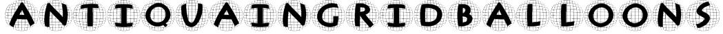 AntiquaInGridBalloons Font