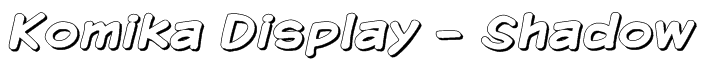 Komika Display - Shadow Font