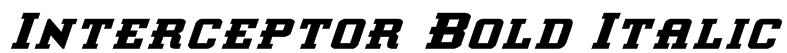 Interceptor Bold Italic Font