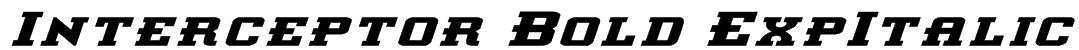 Interceptor Bold ExpItalic Font