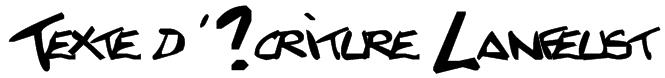 Texte d'?criture Lanfeust Font