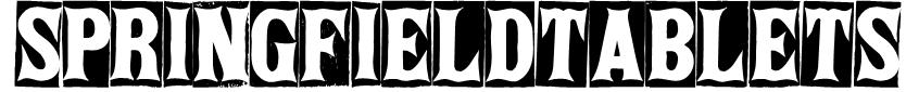 SpringfieldTablets Font