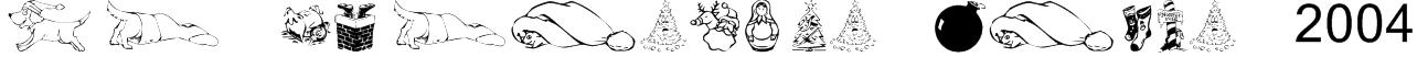KR Christmas Dings 2004 Font