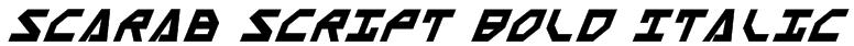 Scarab Script Bold Italic Font
