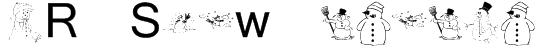 KR Snow People Font