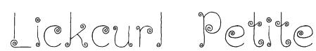 Lickcurl Petite Font